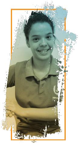 Maria Júlia, estudante do 2º período de Serviço Social