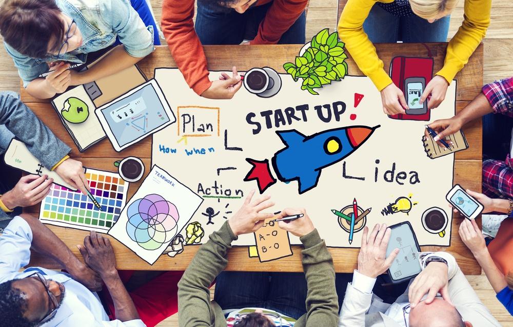 gestão de negócios e startups